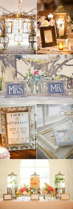 Marcos de fotos - ideas originales para decorar tu boda