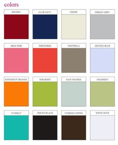 colors for painted furniture