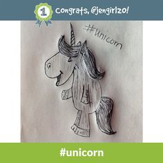 Congrats to jengirl20 - the #unicorn Daily Doodle Challenge winner of 500 SB for 9.11.14!