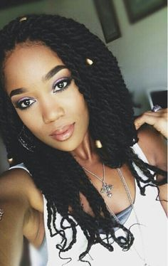 Senegalese Twists with Marley Hair | Try This Hair Style • Havana Twists • Marley Twists • Senegalese ...