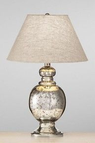 mercury glass lamp. Luscious lighting - Live lusciously with LUSCIOUS: www.myLusciousLife.com