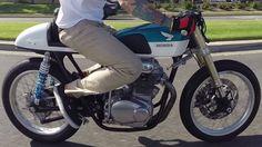 1968 Honda CB350 Custom Cafe Racer GoPro Hero 3+