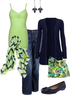 Navy and lime