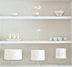 pure white dessert bar ~ 5 tips on styling your own dessert bar from a baker + food stylist http://su.pr/25gJfd