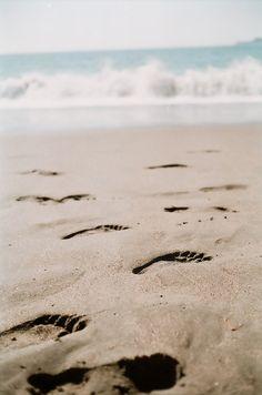 . beaches, footprints, sand, dream, at the beach, summer, sea, leap of faith, walk