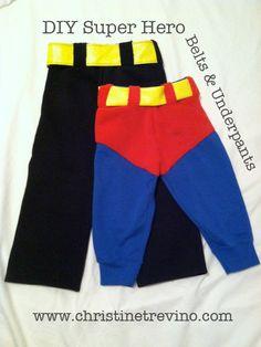 DIY Super Hero Belts & Underpants  (Dark Knight & Superman)