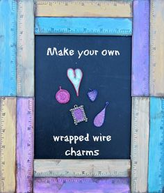 make your own wrapped wire charms - dollar store craft