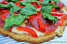 Gourmet Girl Cooks: Pizza - Low Carb, Grain Free & Delicious