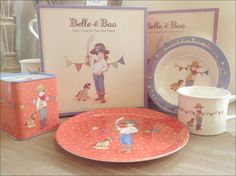 Belle and Boo tableware, charming designs for children.