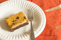 Chocolate Pumpkin Pie Bars are so much easier (and more unique) than normal pumpkin pie. Make these dessert bars for a delicious treat on Thanksgiving!