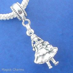 Silver 925 dorothy with toto wizard of oz european dangle bead charm