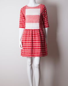 Ace and Jig Peasant Mini Dress in Gridlock and Bigtop | Coming Soon to Covet + Lou