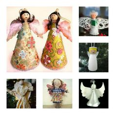 "You can practically count all the way down to Christmas with this round up. ""29 Ways to Make an Angel Before Christmas"" will keep you busy with angel crafts for (almost) the whole month of December! craft tutori, angel crafts, 3d craft, craft galor, christma craft"