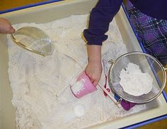 Very simple (but VERY messy) gingerbread scented sensory tub - really open ended, though! I might be worth the mess!
