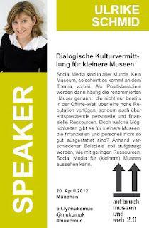 Ulrike Schmid - Speaker @ #mukomuc & #scmuc12 //  http://scmuc.posterous.com
