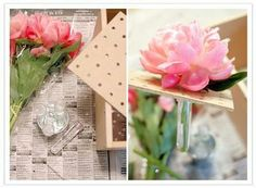 Vases are overrated! Use pegboard to make a unique flower box centerpiece.