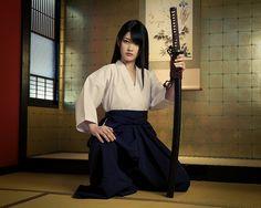 Samurai girl and her katana