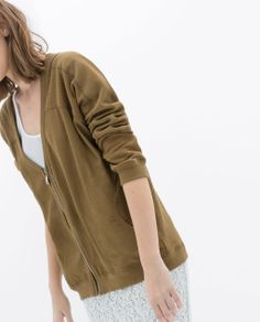 JACKET WITH FRONT SEAMS from Zara