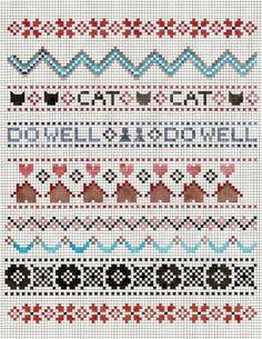 sampler print cats