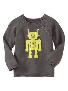 Intarsia robot sweater | Gap