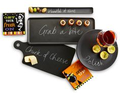 Our Soho Platters look so much  like a chalkboard, it's scary