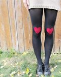 Heart Knee Patched Tights