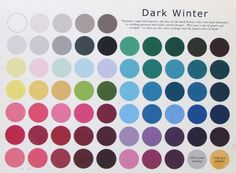 The Dark Winter Color Pallet~ please do take in to consideration that the colors may vary slightly from the original due to the translation from the canvas to your computer screen.