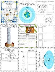 Weather Unit Posters, Student activities, vocab cards, and much, much more!! http://www.teacherspayteachers.com/Product/Weather-Vocabulary-Cards-Posters-Student-Activities-Experiments-and-more-1131655
