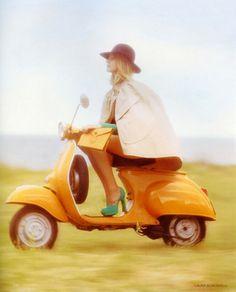 Essential accessory... mandarin orange scooter!