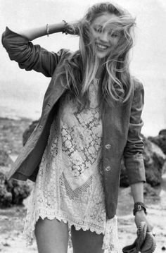 model ideas posing boho chic, fashion, style, summer outfits, the dress, white lace, leather jackets, summer clothes, lace dresses