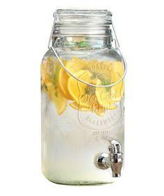 Mason Jar 3-Liter Drink Dispenser - LOVE this for iced tea!