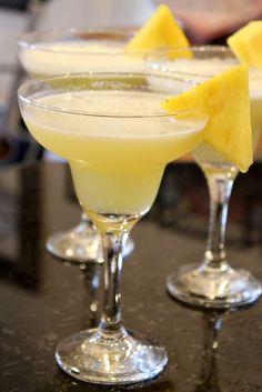 Pineapple Margaritas #recipe - RecipeGirl.com