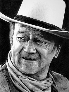 John Wayne 02    Pencil drawing