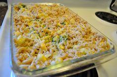 Macaroni, Spinach & Cauliflower Cheese Bake