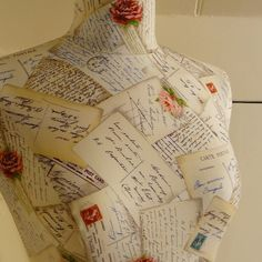 Romantic French Postcard Script Display by CorsetLacedMannequin, £190.00