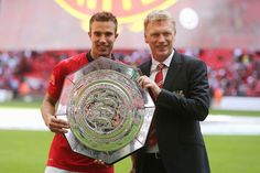 David Moyes wins first ManUtd title with RVP double