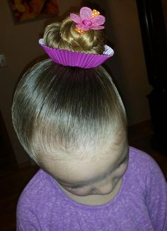 Crazy hair day, cupcake hair for Dr. Suess week