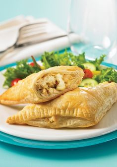 Chicken, Brie and Apple Pastries - a bit of a twist on comfort food, and still just as comforting :) Yummmm...I love Brie.