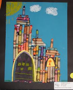 Crayon Castles...use up those old and broken crayons!