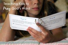 Teaching kids to pray God's word