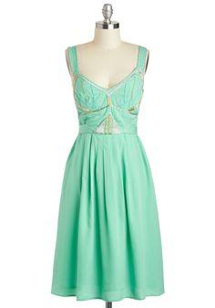 A Whole New Twirl Dress   Mod Retro Vintage Dresses   ModCloth.com twirl dress, princess jasmine, bead, style, bridesmaid dresses, mint, green dress, vintage inspired, retro vintage