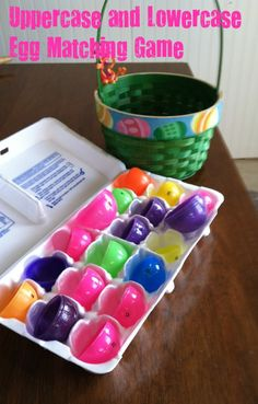 Uppercase and Lowercase Egg Matching Game