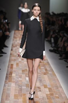 Valentino RTW Fall 2013 - Wednesday Addams inspired