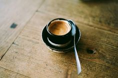 Linger over espresso to close out the night.  #saveur #dinnerparty