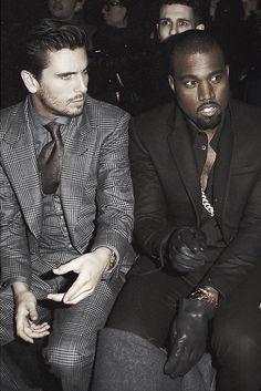 Scott Disick and Kanye West. Cool to see them hanging out. #men #fashion #kardashian