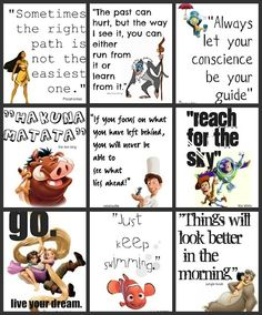 Quotes from Disney movies