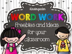 kindergarten word work ideas, kindergarten word work'