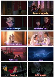 Frozen connections to Tangled and the Little Mermaid. Nearly started crying from this. Thanks a lot Tumblr for killing me.