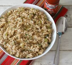 Dirty Rice -  A traditional southern dish made with lean ground pork, rice, veggies and flavored with Creole seasoning.