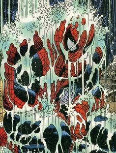 Sometimes when it rains...  #comics #Spiderman